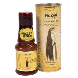 NuZen Gold Herbal Hair Oil - Therapeutic herbal oil for hair growth